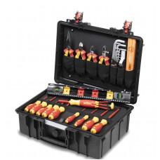 WH-44505  Набор VDE инструментов Basic Set L electric 34 предмета в чемодане Wiha